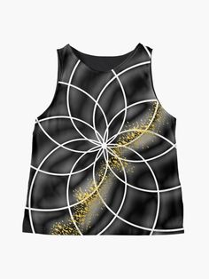 """""""Goddess Of Circle Gold Geometry """" Contrast Tank by TeddyTed 