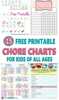 Looking for a weekly or monthly chore chart template to help organize your family home? Here are 15 free printable chore charts ideas for just about everybody from preschoolers, to teens and toddlers to adults. Preschool Chore Charts, Preschool Chores, Teen Chore Chart, Daily Chore Charts, Chore Chart For Toddlers, Charts For Kids, Chore Chart Toddler, Chores For Kids By Age, Toddler Chores