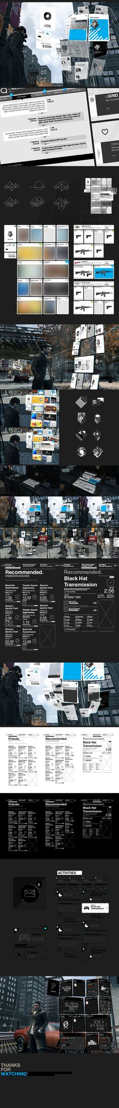 WATCH_DOGS : Late PDA R&D by Timothe Lapetite, via Behance