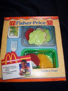 Childs Play Food Fisher Price McDonald's Garden Salad Pretend Kitchen Fun | eBay