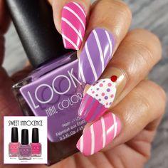 Fun cupcake nail art