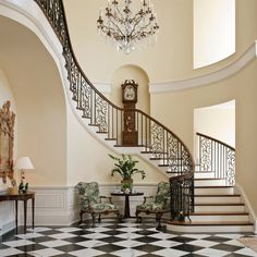 Foyer decorating – Home Decor Decorating Ideas Grand Staircase, Stairs, House Staircase, Staircase Design, Airy Bedroom, Georgian Homes, Foyer Decorating, Decorating Ideas, Grand Entrance