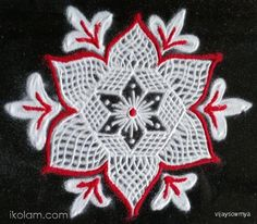 Rangoli Happy Birthday Ikolam Freehand Rangoli | www.iKolam.com