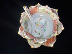 Vintage Noritake china serving Bowl . Collectible oriental decor 6.25 inch wide #Noritake