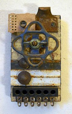 Valve II found object assemblage by tristanfrancis on Etsy, $150.00