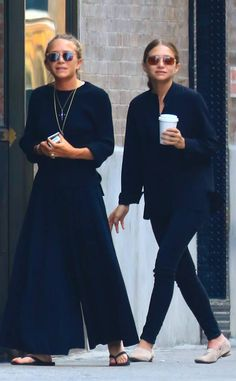 The Olsen twins are seen in NYC.