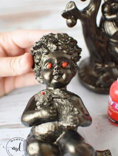 This Halloween its all about the DIY with these easy to make Halloween decorations! Learn how to make creepy red eyed figurines from paint Halloween Stuff, Halloween Themes, Halloween Decorations, Fun Crafts, Diy And Crafts, How To Make Something, Crafts For Teens To Make, Holiday Activities, Red Eyes