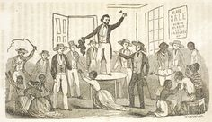 Image result for slaves standing on a table to be sold