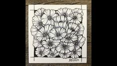 Easy meditative drawing - Cosmos Flowers - #inspiration #Drawing #relaxation #positivity #withme - YouTube Flower Line Drawings, Drawing Flowers, Cosmos Flowers, Flower Doodles, Zen Doodle, Zentangle Patterns, Colorful Drawings, Line Art, Meditation