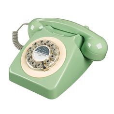 Call back in time with this mint Retro Telephone. Based on a famous design from the 1960s, this telephone is fully functional and features an extra-long lead so you can carry it around your room while you talk.