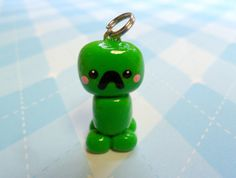 Minecraft+Creeper+Chibi+Kawaii+Charm+by+JollyCharms+on+Etsy,+$6.00
