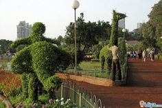 Hanging Garden,  Malabar Hill, Mumbai.Pherozeshah Mehta Gardens, opp the Kamala Nehru Park.   @ http://ijiya.com/8236906