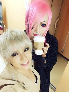 Chobi of DIV with Koichi of MEJIBRAY