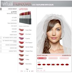 Start planning your perfect bridal look and try products on with our FREE virtual makeover!