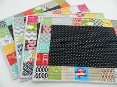 Perfect Patchwork Placemats | FaveQuilts.com