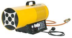 Aquecedor a gáz  Modelo: BLP 33E  Tipo: Aquecimento directo  Ignição: Electrónica  Pressão: 0,75-1,5 bar  Capacidade máx.: 33 kW - 28.400 kcal/h  Capacidade min.: 18 kW - 15.500 kcal/h  Consumo gás: 2,4 kg/h  Deslocamento ar: 1.000 m3/h  Tensão: 230 V/ 50 Hz  Potência do motor: 0,32 A  Termóstato: TH-5 (opcional)  Peso: 8 kg Marca: Master