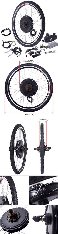 Electric Bicycles 74469: 26 Electric Bicycle 48V 1000W Rear Wheel Conversion Kit New E-Bike Motor Hub BUY IT NOW ONLY: $152.59