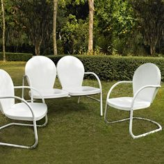 crosley furniture griffith 3piece steel patio set ko10002wh