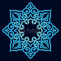 Traditional Persian-Arabic-Turkish-Islamic Pattern Royalty Free Cliparts, Vectors, And Stock Illustration. Stencil Designs, Stencil Patterns, Pattern Art, Pattern Design, Border Design, Art Designs, Islamic Art Pattern, Arabic Pattern, Turkish Pattern