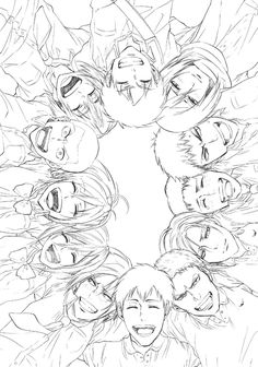 :*( this makes me sad because none of them are ever this happy *sob* Shingeki no Kyojin (Attack on Titan)