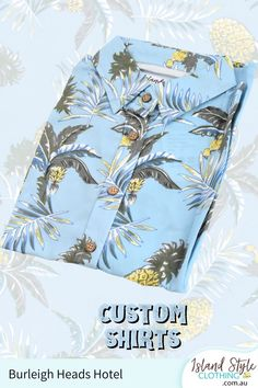 We designed this for Burleigh Heads Hotel. How about your Club, Team or Group? Send in your design or we can design for you. #customshirts #customhawaiianshirts #madetoorder #eventshirts #uniforms #customapparel #festivalfashion #surfshirts #customtshirts #customt-shirts #custom-shirts