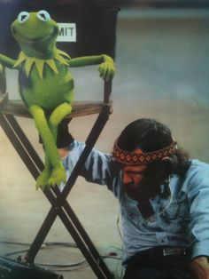 Jim Henson filming The Muppet Movie