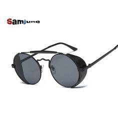 Round Metal Frame Steampunk Sunglasses Men Women Fashion Glasses Brand Designer Retro Vintage Redonda Sunglasses UV400 shades #Affiliate