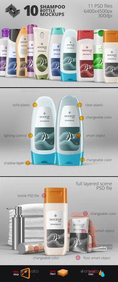 10 Shampoo Bottle Mockups #design Download: http://graphicriver.net/item/10-shampoo-bottle-mockups/13430570?ref=ksioks