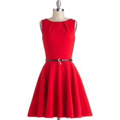 Luck Be A Lady Dress in Red ($75) ❤ liked on Polyvore
