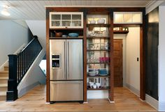 food storage ideas for small kitchen cool kitchen pantry design with free standi… - Kitchen Pantry Cabinets Small Kitchen Pantry, Free Standing Kitchen Pantry, Kitchen Pantry Design, Kitchen Pantry Cabinets, Standing Pantry, Kitchen Shelves, Kitchen Layout, Kitchen Designs, Kitchen Ideas