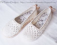 Ravelry: White Lace Slippers - Espadrilles/Toms pattern by Ingunn Santini