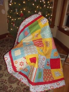 Easy Stacker Quilt tutorial-fabric is Riley Blake's Delighted! line by the Quilted fish......LOVE!