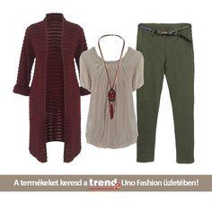 Őszi színek, izgalmas szabás! Keresd a Trend2-ben,az Uno fashion üzletben!
