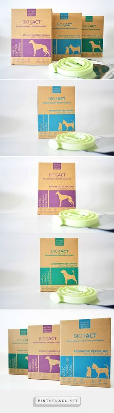 Bio3Act repellent collars by graFistiki Creative. Source: Daily Package Design Inspiration. Pin curated by #SFields99 #packaging #design #inspiration #ideas #branding #product #pets #graFistikiCreative