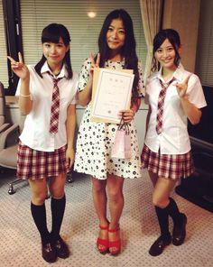 草津ブースターズ委嘱式にて♥️ NMB48の近藤里奈さん、上西恵さんと٩꒰⍢ ꒱۶⁼³₌₃
