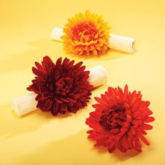 Fall Floral Napkin Rings
