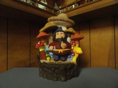Mushroom with Gnome by TnCCeramics on Etsy, $65.00