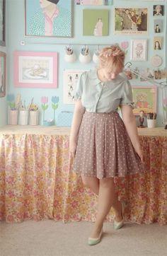 Pretty polka dot skirt