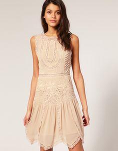asos antique cutwork flapper dress £75.00 - so pretty!