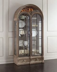 Shop Ciarrocchi Display Cabinet w/ Chandelier at Horchow, where you'll find new lower shipping on hundreds of home furnishings and gifts. Hooker Furniture, Ikea Furniture, Kitchen Furniture, Living Room Furniture, Furniture Cleaning, Space Furniture, Muebles Shabby Chic, Dining Table Price, Glass Cabinet Doors
