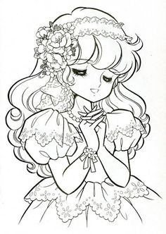 Shoujo COLORING PAGES - Google Search | Coloring & Drawing ...