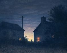 Between the Lights by British Contemporary Artist Steven OUTRAM