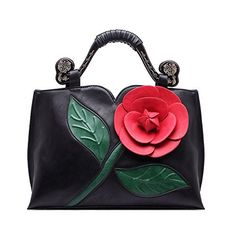 New Trending Clutch Bags: Realer Designer Clutch Purses Wallet Large Leather Handbag with Handle for Women Black. Realer Designer Clutch Purses Wallet Large Leather Handbag with Handle for Women Black   Special Offer: $39.90      455 Reviews This handbag is characterized by beautiful 3D flower and unique wooden handle design. It is a structured handbag with large capacity. Realer- A professional bag...
