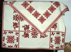 ALL, THAT IS HUNGARIAN - Homespun and cross stitch embroidery of Bereg in the Provincial House of Tákos Cross Stitch Embroidery, Folk Art, Quilts, Traditional, Blanket, Minden, House, Patterns, Centre
