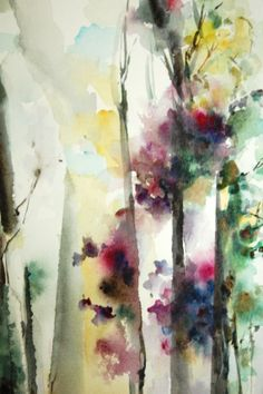 Original Watercolor Abstract Intuitive Painting. by CanotStop, $92.00