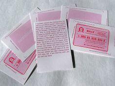 cartes de visite estampillées