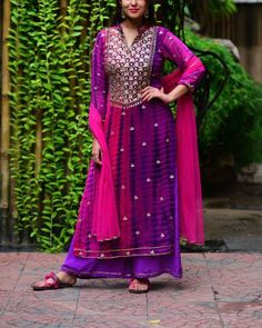 Purple Pink Gota Patti Set I Shop at :http://www.thesecretlabel.com/designer/purple-panchi