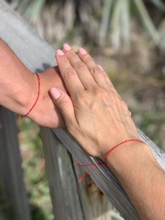 Red String of Fate Couples Bracelet, Valentines Day Gift for Boyfriend, Red String Bracelet, Matching Bracelet Thread Bracelets, Couple Bracelets, Red String Of Fate, Valentine Day Gifts, Valentines, Red String Bracelet, Cute Girl Photo, Minimalist Jewelry, Wedding Ring Bands