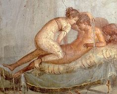 A fresco of Lupercalia enthusiasts at a temple in Pompeii