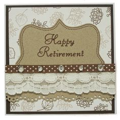 Handmade Retirement Card